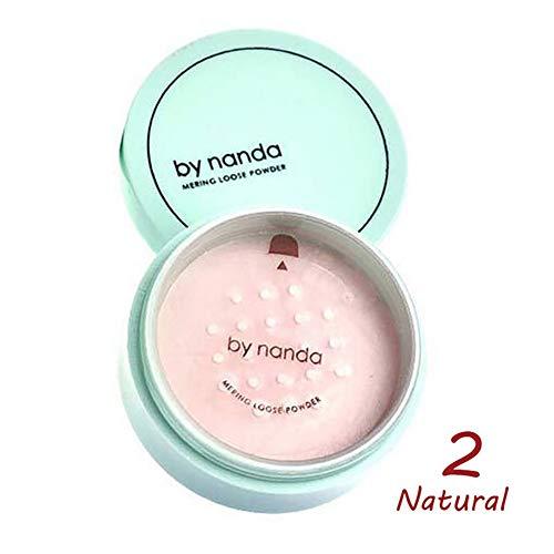 1PC Pro poudre lâche finition Poudre Minérale Pressée Concealer Contour Foundation Maquillage Huile Contrôle Éclairer Matifiante transparente compacte coiffante fond de teint (802 Beige naturel)