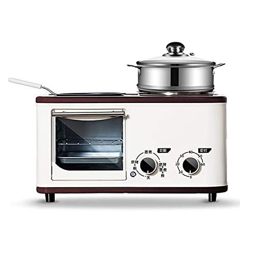 LDDYC Mini Horno Multifuncional Toaster, 4 en 1 Máquina de Desayuno, Mini-Función Mini Breakfast Machine, Azul (Color : Beige)