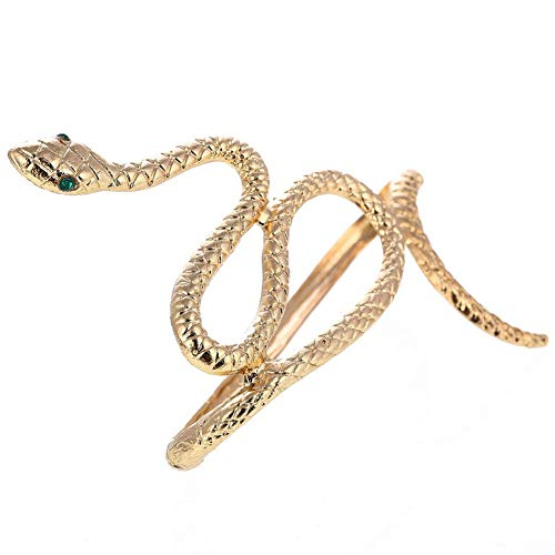 Hotaden 1pc Snake Crystal Hand Bracelet Punk Bangle Cuff Exaggerated Vintage Old Snake Bracelet Bracelet