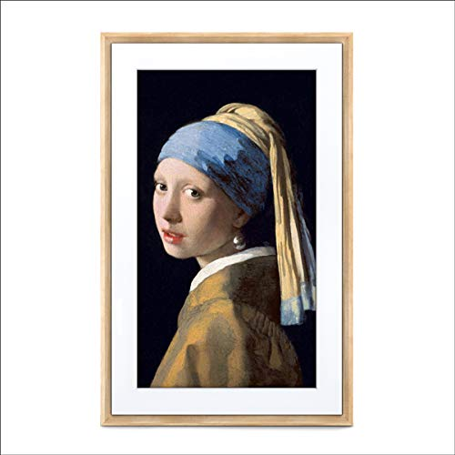 Meural di Netgear MC327LW, Quadro digitale HD 27 pollici che mostra immagini e fotografie in modo realistico, cornice in legno di betulla 19x29