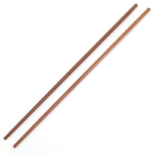 Sourcingmap Paire de Cuisine Conique-Marron foncé-Pointe Ronde Baguettes en Bambou - 42 cm