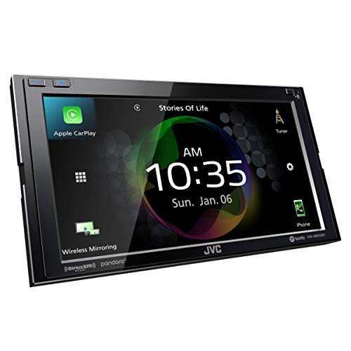JVC KW-M855BW Compatible with Apple CarPlay, Wireless Android Auto Digital AV Receiver, High-Resolution Audio