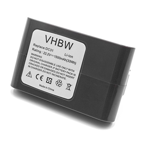 vhbw Li-ION Batterie 1500mAh (22.2V) Gris pour aspirateur Robots domestiques Dyson DC43, DC43h Animal Pro, DC45, DC45 Animal Pro, DC56, DC57