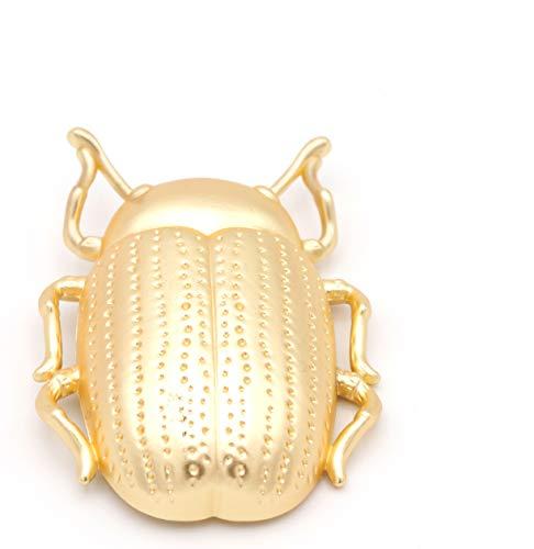 Broches de Bisutería Escarabajo Dorado - Ideal para Mujeres - Combinación Vestidos y Cualquier Tipo De Ropa - Calidad Española