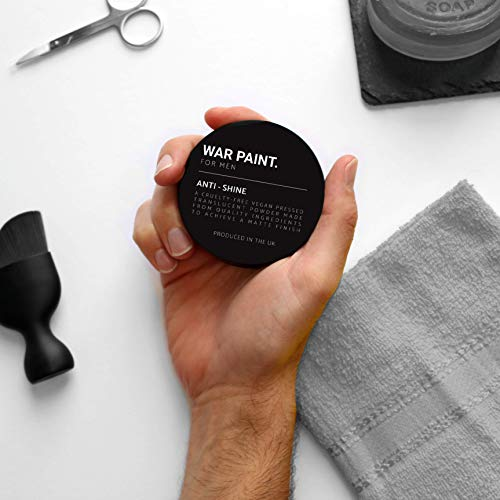 War Paint - Anti-Glanz-Puder Matte Finish - Make Up Puder für Männer - Hochwertiges Veganes...