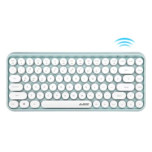 Docooler Ajazz 308i Wireless Keyboard Round Key Cap 84 Keys Gaming Keyboard for Windows 2000, XP, ME, Vista, 7/8/10