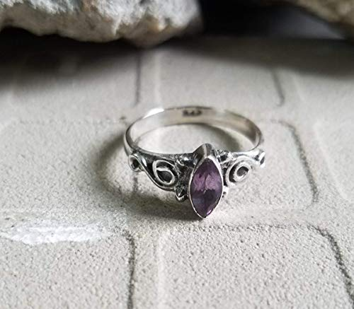 Amethyst Ring Sterling Silver Outstanding Ring Handmade Jewelry Extraordinary Ring Stacking Ring Tiny Ring February Birthstone Jewelry
