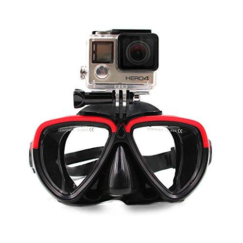 TELESIN Swimming Goggles Diving Scuba Snorkel Glasses for GoPro Max Hero 9 Hero 8 Hero 7/6/5/4/3/3+ Session 4/5 Insta 360 One R DJI Osmo Action Cameras