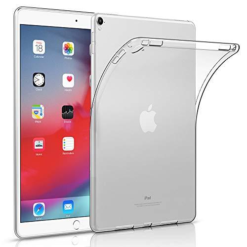HBorna Silikon Hülle für iPad Pro 9.7 (2016 Version), Ultra Slim Leichtes, Weiches TPU Silikongehäuse Schutzhülle für Apple iPad PRO 9.7 Zoll (Modell: A1673 / A1674 / A1675), Transparent