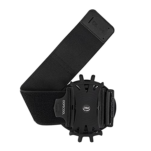 Blesiya Soporte de Pulsera para teléfono, Brazalete Giratorio de 360 ° para el antebrazo para iPhone 12/12 Pro / 12 Mini/SE 2020/11/11 Pro/XS/XR/X / - Negro