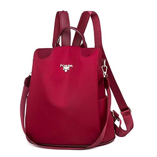 LUI SUI Frauen Rucksack, Damen Rucksack Schultaschen Diebstahlsicherer Rucksack Dayback Schultertasche Satchel Handtasche Rot