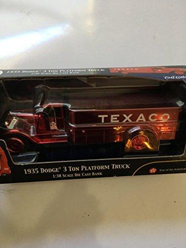 Ertl Collectibles 1935 Dodge 3 Ton Platform Truck Texaco Bank