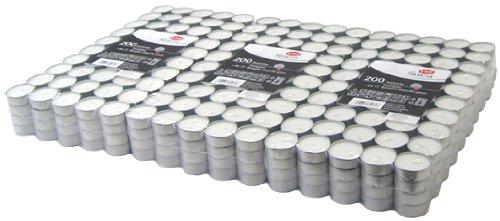 Hillfield® 600 Premium -Teelichter im Alubecher, Brenndauer 4 Stunden, Weiß, mit Gütezeichen
