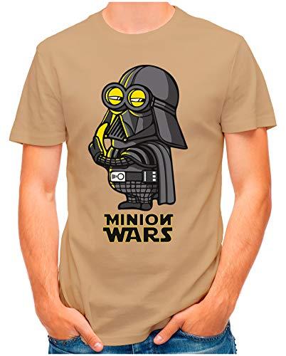 OM3® - Minion-Wars - T-Shirt | Herren | Banana Darth Vader Parody Printshirt | Khaki, XXL