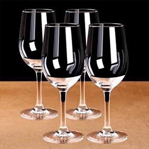 PIANAI Conjunto de Copa de Vino Tinto/Cristal Grande de Cristal de Cristal/Copa de Vino de Cristal Europea/Conjuntos de vinos Regalos/Copas de Vino Tinto/Capacidad: 320 ml,4PCS