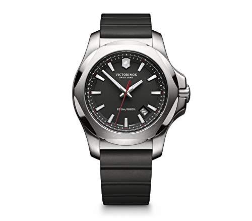 Victorinox Herren I.N.O.X - Swiss Made Analog Quarz Edelstahl/Gummi Uhr 241682.1