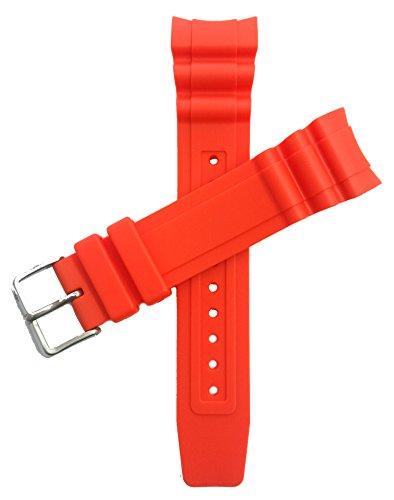 CITIZEN Original-Uhrband f.BN0100-18E Gummi orange 23mm Anstoß