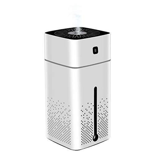MX kingdom Humidificador 1000ml, Humidificadores de Aire Silencioso con alimentación USB, Auto-Apagado, Luz Nocturna Hogar Dormitorio Oficina Yoga