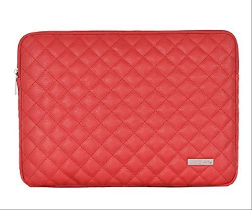 BJBNDB Pu Leder wasserdichte Hülse Laptop Tasche 14,1 Zoll Für MacBook Pro 13 15 Case Für Xiaomi Mi Notebook Air 13,3 Asus Lenovo Taschen Für Xiaomi Air 13,3 Style 3 Rot