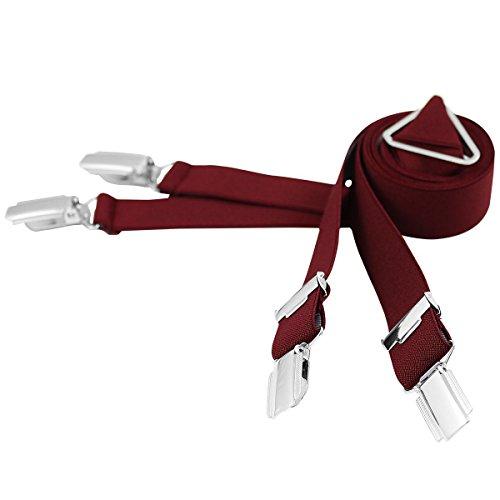 Lindenmann Mens Braces/Suspenders/mens suspenders, X-shape, 25 mm stetch, XXL, bordeaux, 9155-061, Größe/Size:110