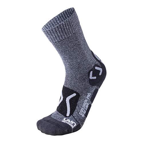 UYN Outdoor Chaussettes Techniques pour randonnée Femme, Femme, S100049, Grey Melange/Pearl Grey, 35/36