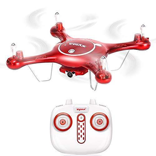 E-KIA Kleine Drohne Mit Kamera Quadrocopter,Live-Video Und GPS-Heimkehr FüR Erwachsene, 150m Fernbedienung,red