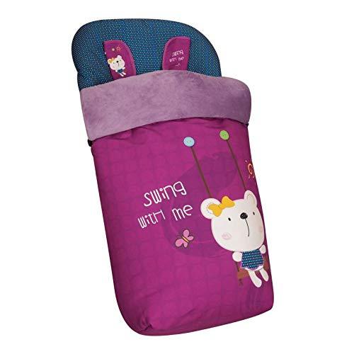 Saco de Bebé Universal Silla con Cubre Pies Polar, Desmontable con Cremalleras. Lavable a máquina. (Swing)