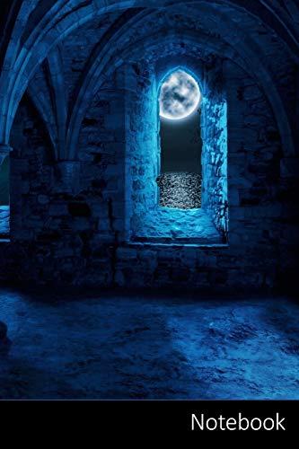 Notebook: Fantasía, Bóveda, La Luna, El Monasterio Cuaderno / Diario / Libro de escritura / Notas - 6 x 9 pulgadas (15.24 x 22.86 cm), 110 páginas, superficie brillante.