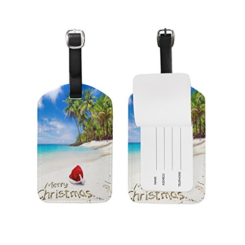 Domoko Christmas Sea Beach Luggage Tags Travel ID Bag TagDomoko 1 Piece