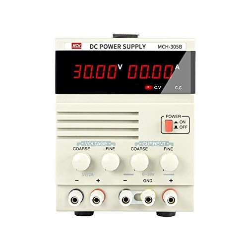 Pantalla de cuatro dígitos Transformador de potencia lineal MCH-305B 30V 5A Fuente de alimentación de CC ajustable (Size : 110V)