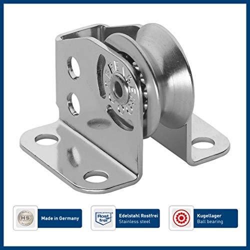 Sprenger Micro XS Stehblock (Umlenkrolle) für Draht Kugellager 4 mm - 1 Rolle