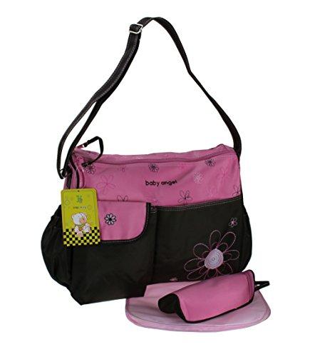 3 piezas Bebé color rosa marrón Bolso cambiador Bolso cuidado Bolso pañalero Bolso bebé Selección de colores