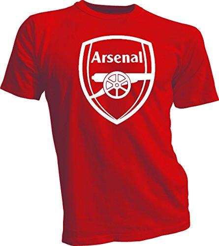 Gildan Arsenal FC Football Soccer EPL Gunners Men's T Shirt Red 4XL
