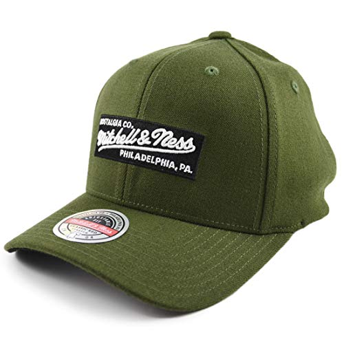 Mitchell & Ness Box Logo Branded - Gorra, color verde oliva