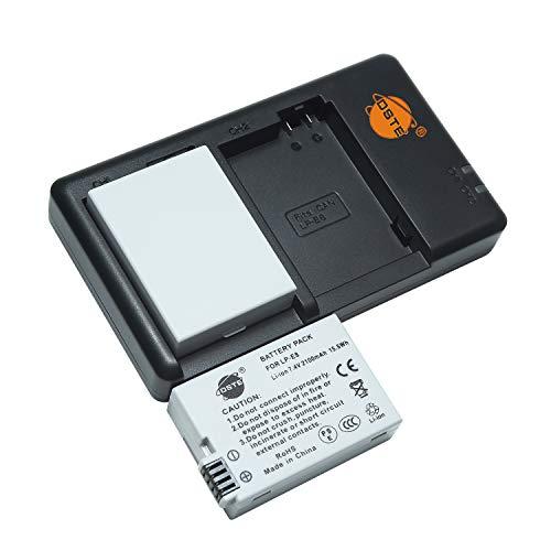 LP-E8 LC-E8E - Batería de repuesto recargable y cargador dual compatible con Canon EOS Rebel T2i, T3i, T4i, T5i, EOS 550D, 600D, 650D, 700D, Kiss X4, X5, X6, etc.