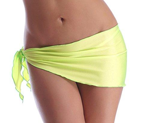 Sexy Tuch Bikini Rock Strandtuch Hüfttuch zum Binden (Neongelb)