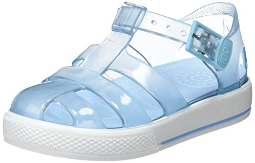 Igor Tenis, Sandalia con Pulsera Unisex niño, Azul (Cristal Celeste), 20 EU