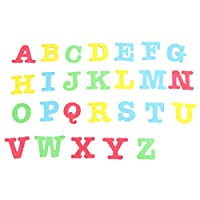 Toyvian アルファベットステッカーマグネット大文字ステッカーカラフルな冷蔵庫ステッカーデカール用教室保育園ホームショップ