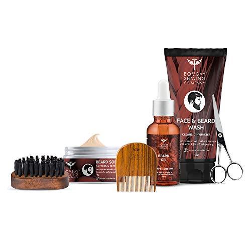 Bombay Shaving Company 6-in1- Advance Beard Maintenance Kit With Face & Beard Wash, Cedarwood Beard Oil, Beard Softener Balm, Beard Comb, Beard Brush & Scissors | Made in India