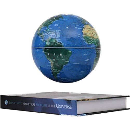 6 Pulgadas Bola del Mundo para con Luces Color LED,Azul Globo Terraqueo Giratorio para La Enseñanza de La Educación del Aprendizaje