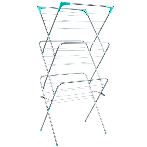 Home Vida 3 Tier Clothes Airer, Indoor and Outdoor Laundry Drying Rack, 14...