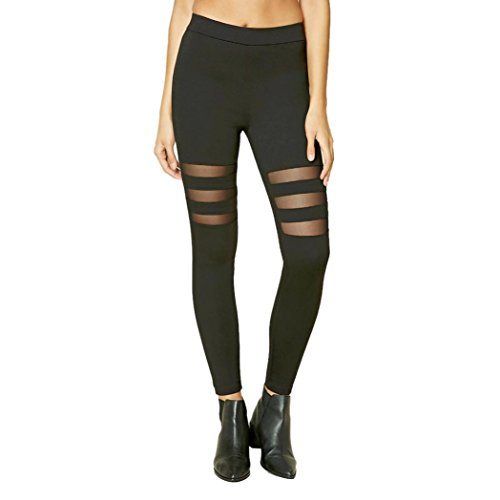 Gillberry Women Sports Trousers Athletic Gym Workout Fitness Yoga Leggings Pants (M, Black E)