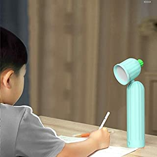Cactus LED Desk Lamp USB Eye Protection Desktop USB Night Light High Quality (Color : Blue)