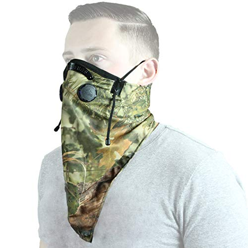 ATV TEK, Bandana Style Dust Masks with Suspension Straps and 3D Nose Box - Camo, 20'