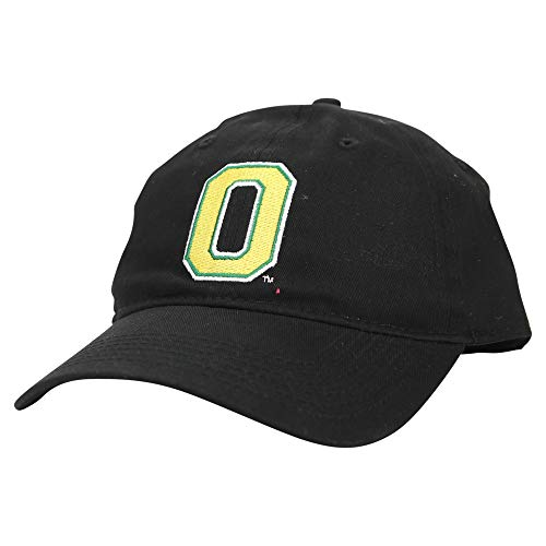 Captivating Headgear NCAA Erwachsene Baseball Cap Verstellbare Mütze, Unisex-Erwachsene, Oregon Enten (schwarz) (klassisch), Einheitsgröße