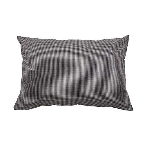 Hans-Textil-Shop Cushion Cover Vichy Checked 2 x 2 mm - Checked Sofa Cushion, Decorative Cushion, Seat Cushion, Decorative Cushion (30 cm x 30 cm, Dark Green)