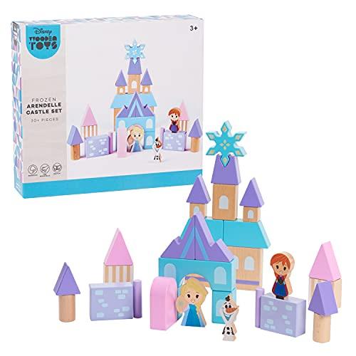 Disney Wooden Toys Frozen Arendelle Castle Block Set, 30+ Pieces...