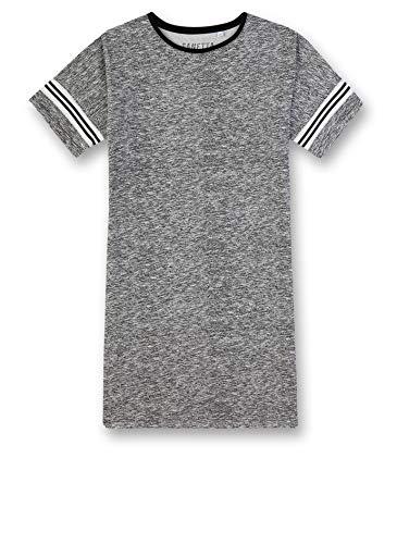 Sanetta Mädchen Sleepshirt Nachthemd, Schwarz (schwarz 10015), (Herstellergröße:152)