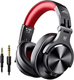 OneOdio Bluetooth Headphones Wireless Headphones Over Ear 50 Hrs Playtime Closed Hi-Fi Stereo Bass Headphones with Share Port Foldable DJ Headphones for E-drum Piano Guitar AMP Recording PC/Phone