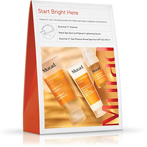 Murad Start Bright Here Kit - Rapid Lightening Skin Care Kit - Everyday Skin Care Pack with Trial Size Essential-C Cleanser, Essential-C Day Moisture and Rapid Age Spot and Pigment Lightening Serum 4